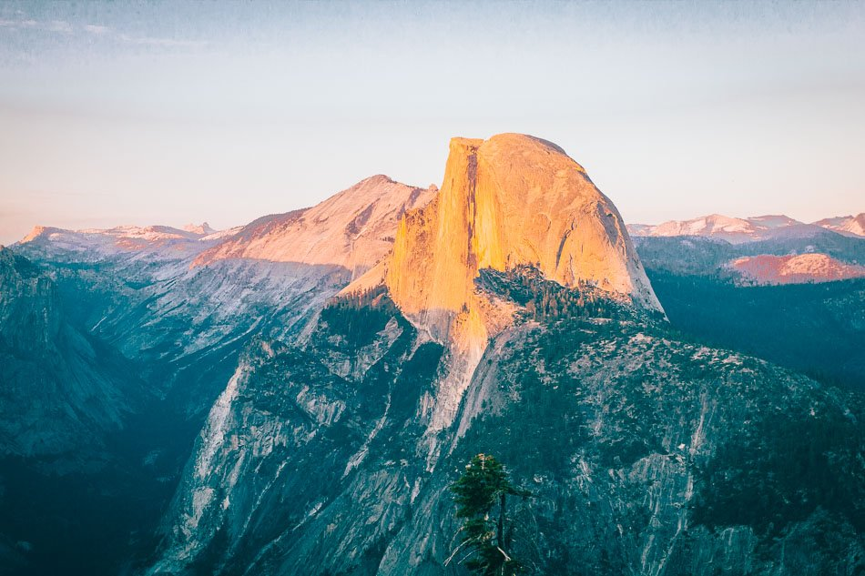Sunset at Glacier Point in Yosemite National Park, CA