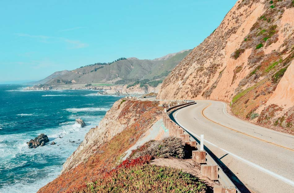 Views from Highway 1 along the Pacific Coast in California.