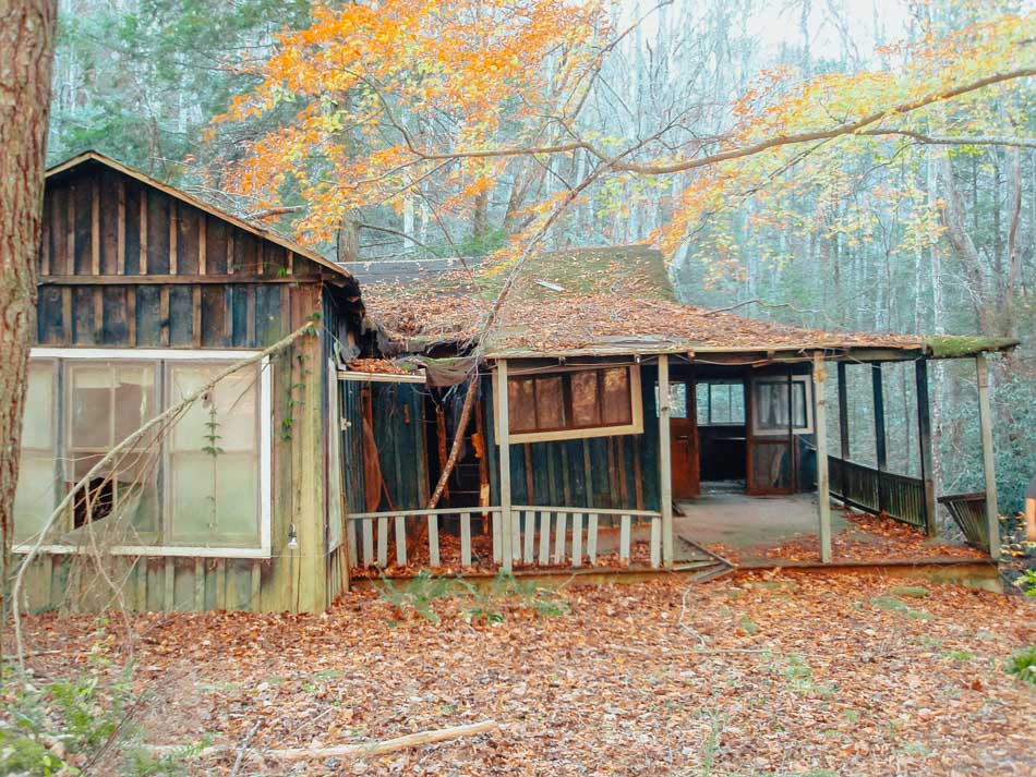 A deserted house in Elkmont in the Great Smoky Mountains National Park