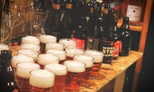 Belgian beers for everyone! We drank loads of delicious Belgian beer on the Brussels beer and chocolate tour.